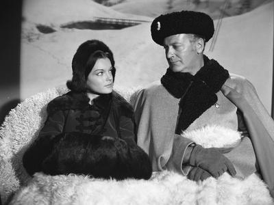 KATIA, 1959 directed by ROBERT SIODMAK Romy Schneider and Curt J (b/w photo)