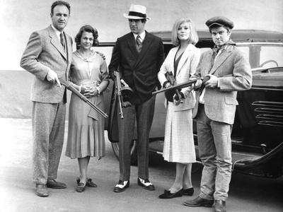 BONNIE AND CLYDE, 1967 directed by ARTHUR PENN Gene Hackman, Estelle Parsons, Warren Beatty, Faye D