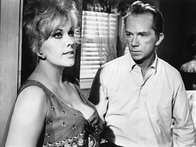 KISS ME STUPID, 1964 directed by BIILY WILDER Kim Novak and Ray Walston (b/w photo)