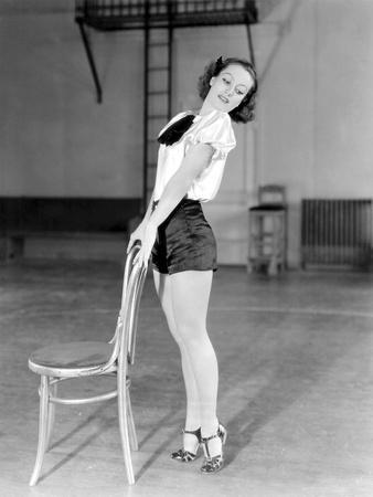 DANCING LADY, 1933 directed by ROBERT Z. LEONARD Joan Crawford (b/w photo)