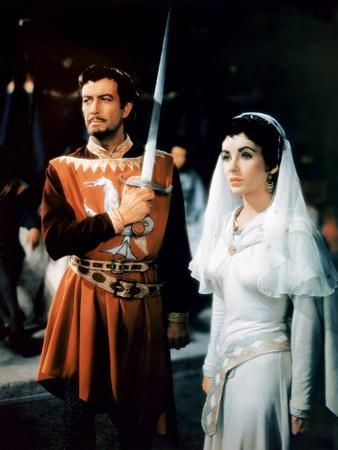 IVANHOE, 1952 directed by RICHARD THORPE Robert Taylor / Elizabeth Taylor (photo)