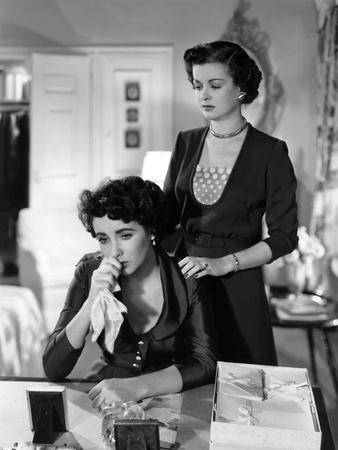 FATHER OF THE BRIDE, 1950 directed by VINCENTE MINNELLI Elizabeth Taylor / Joan Bennett (b/w photo)