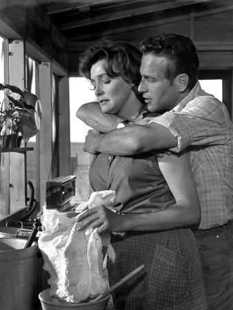 HUD, 1963 directed by MARTIN RITT Paricia Neal / Paul Newman (b/w photo)