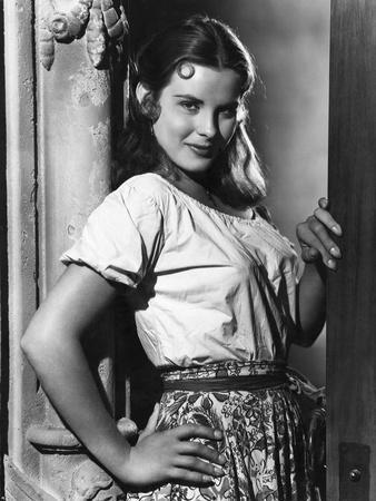 CAPTAIN FROM CASTILE, 1947 directed by HENRY KING Jean Peters (b/w photo)