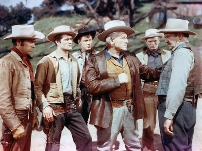BROKEN LANCE, 1954 directed by EDWARD DMYTRYK Robert Wagner, Hugh O'Brian, Earl Holliman, Spencer T