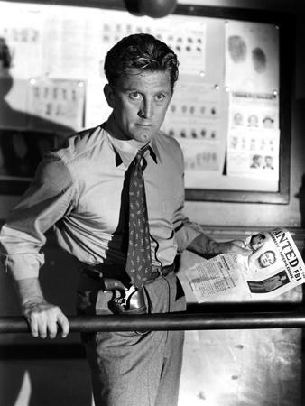 Histoire by detective (Detective Story) by William Wyler with Kirk Douglas, 1951 (b/w photo)