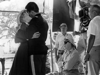 John Ford directs Constance Towers and Jeffrey Hunter