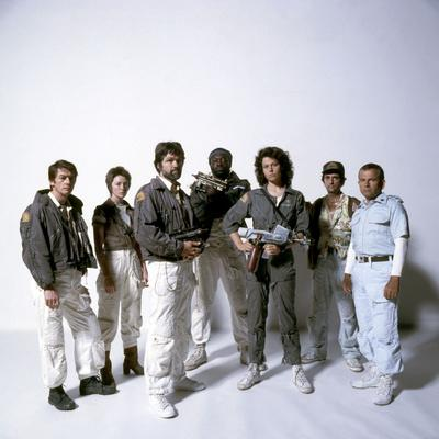 Alien, 1979 with John Hurt, Veronica Cartwright, Tom Skerritt, Yaphet Kotto, Sigourney Weaver