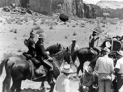 1960, Woody Strode, Jeffrey Hunter and John Ford