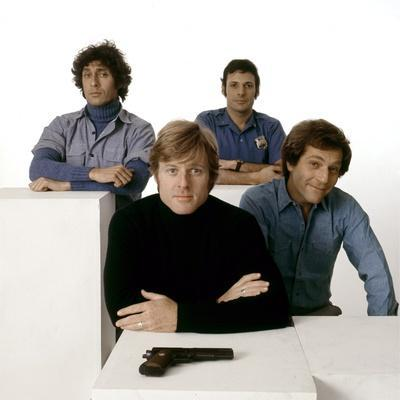 Ron Liebman, Paul Sand, Robert Redford and George Segal\rLes Quatres Malfrats THE HOT ROCK