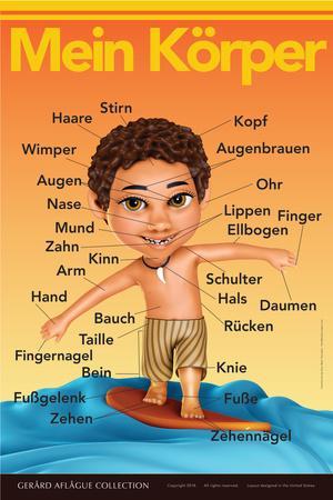 Mein Körper - My Body (Surfer Boy) in German