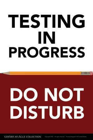 Testing in Progress - Do Not Disturb