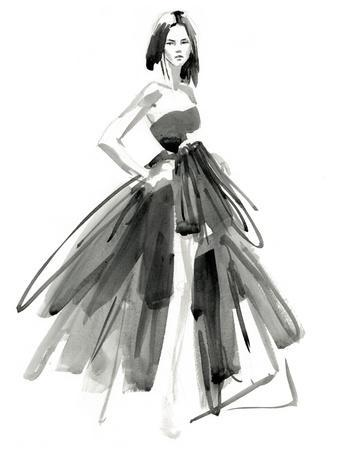 Gestural Evening Gown I