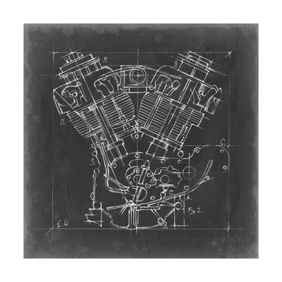 Motorcycle Engine Blueprint I