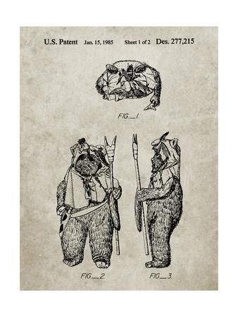 PP341-Sandstone Star Wars Ewok Patent Poster