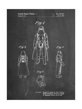 PP380-Chalkboard Star Wars Snowtrooper Patent Poster