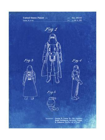 PP380-Faded Blueprint Star Wars Snowtrooper Patent Poster