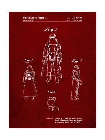 PP380-Burgundy Star Wars Snowtrooper Patent Poster