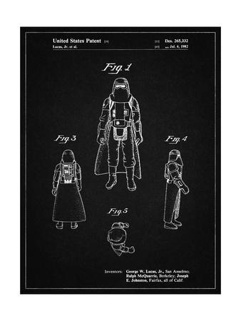 PP380-Vintage Black Star Wars Snowtrooper Patent Poster