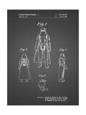 PP380-Black Grid Star Wars Snowtrooper Patent Poster