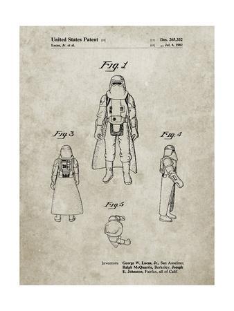 PP380-Sandstone Star Wars Snowtrooper Patent Poster