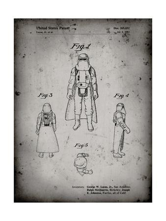 PP380-Faded Grey Star Wars Snowtrooper Patent Poster