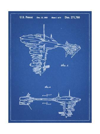 PP529-Blueprint Star Wars Redemption Ship Patent Poster