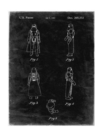 PP645-Black Grunge Star Wars Snowtrooper Patent Poster