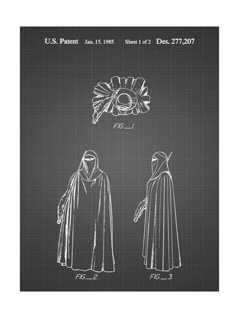 PP598-Black Grid Star Wars Imperial Guard Patent Poster