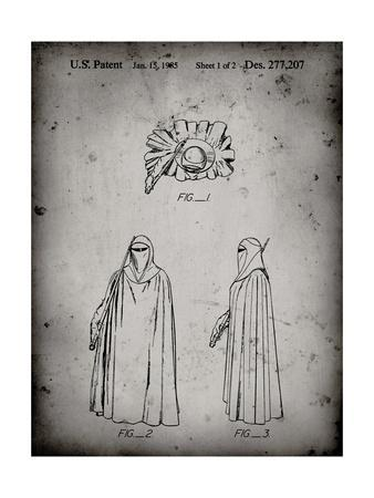 PP598-Faded Grey Star Wars Imperial Guard Patent Poster
