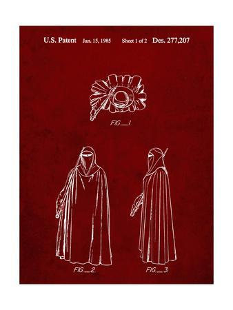 PP598-Burgundy Star Wars Imperial Guard Patent Poster