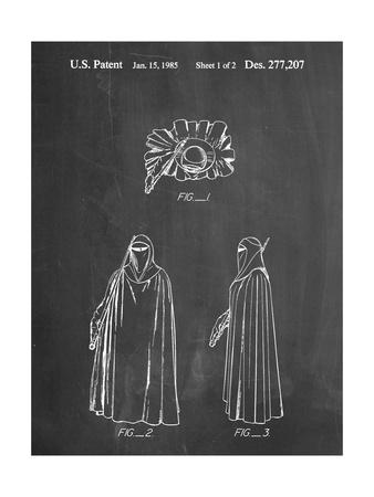 PP598-Chalkboard Star Wars Imperial Guard Patent Poster