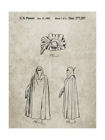 PP598-Sandstone Star Wars Imperial Guard Patent Poster