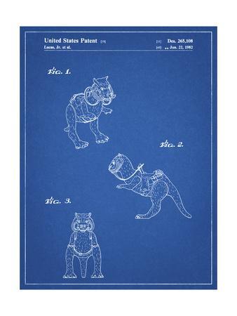 PP621-Blueprint Star Wars Tauntaun Patent Poster