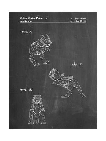 PP621-Chalkboard Star Wars Tauntaun Patent Poster