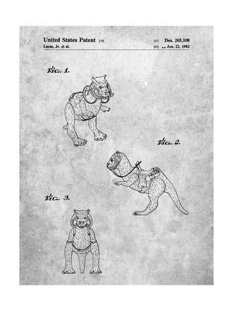 PP621-Slate Star Wars Tauntaun Patent Poster