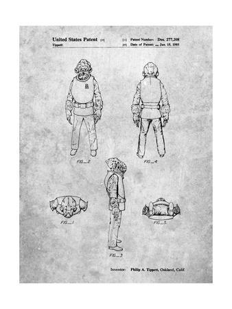 PP688-Slate Star Wars Admiral Ackbar Patent Poster