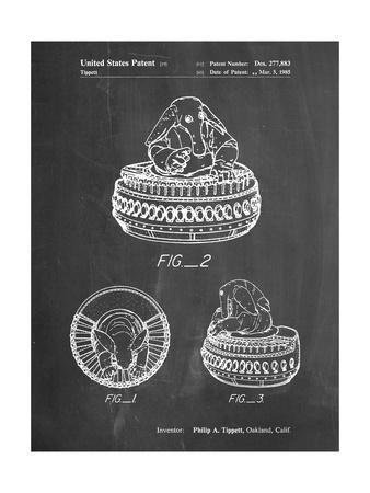 PP649-Chalkboard Star Wars Max Rebo Patent Poster