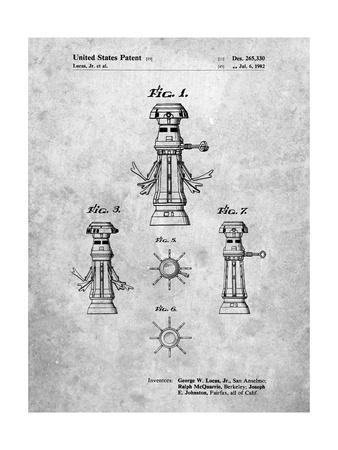 PP665-Slate Star Wars FX-7 Medical Droid Patent Poster