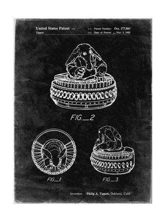 PP649-Black Grunge Star Wars Max Rebo Patent Poster