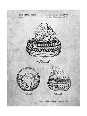 PP649-Slate Star Wars Max Rebo Patent Poster