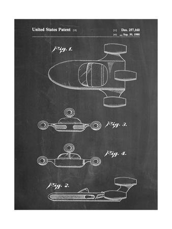 PP673-Chalkboard Star Wars Landspeeder Patent Poster