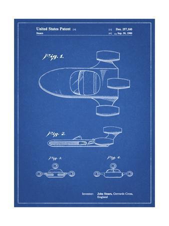 PP650-Blueprint Star Wars X-34 Landspeeder Patent Poster