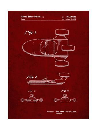 PP650-Burgundy Star Wars X-34 Landspeeder Patent Poster