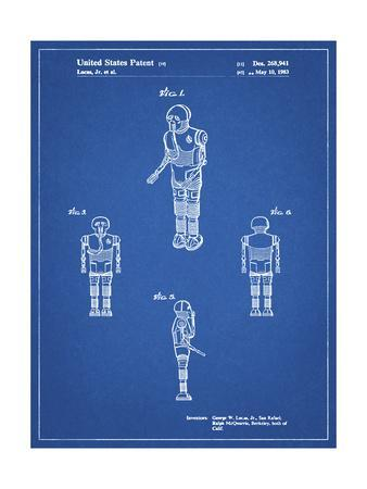 PP691-Blueprint Star Wars Medical Droid Patent Poster