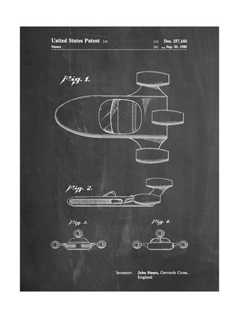 PP650-Chalkboard Star Wars X-34 Landspeeder Patent Poster