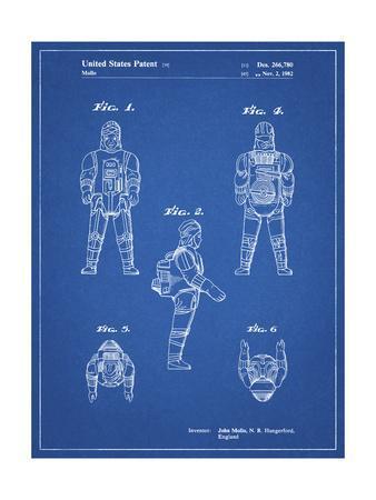 PP668-Blueprint Star Wars Dengar Patent Poster