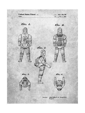 PP668-Slate Star Wars Dengar Patent Poster