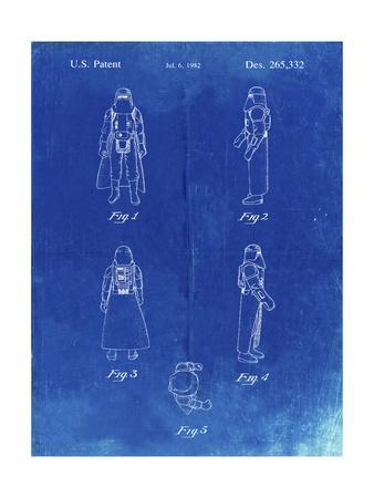 PP645-Faded Blueprint Star Wars Snowtrooper Patent Poster