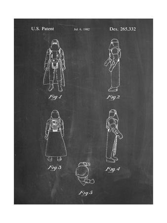 PP645-Chalkboard Star Wars Snowtrooper Patent Poster